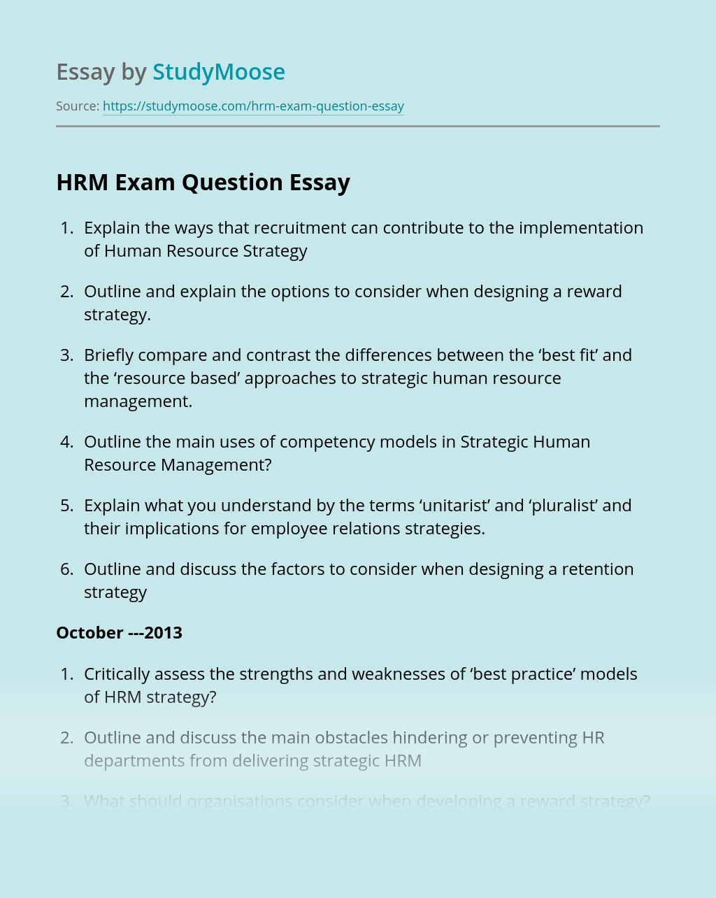 Long essay topics on human resource management sample cover letter volunteer work