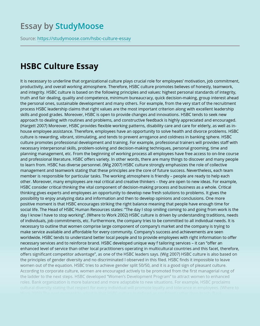 HSBC Culture