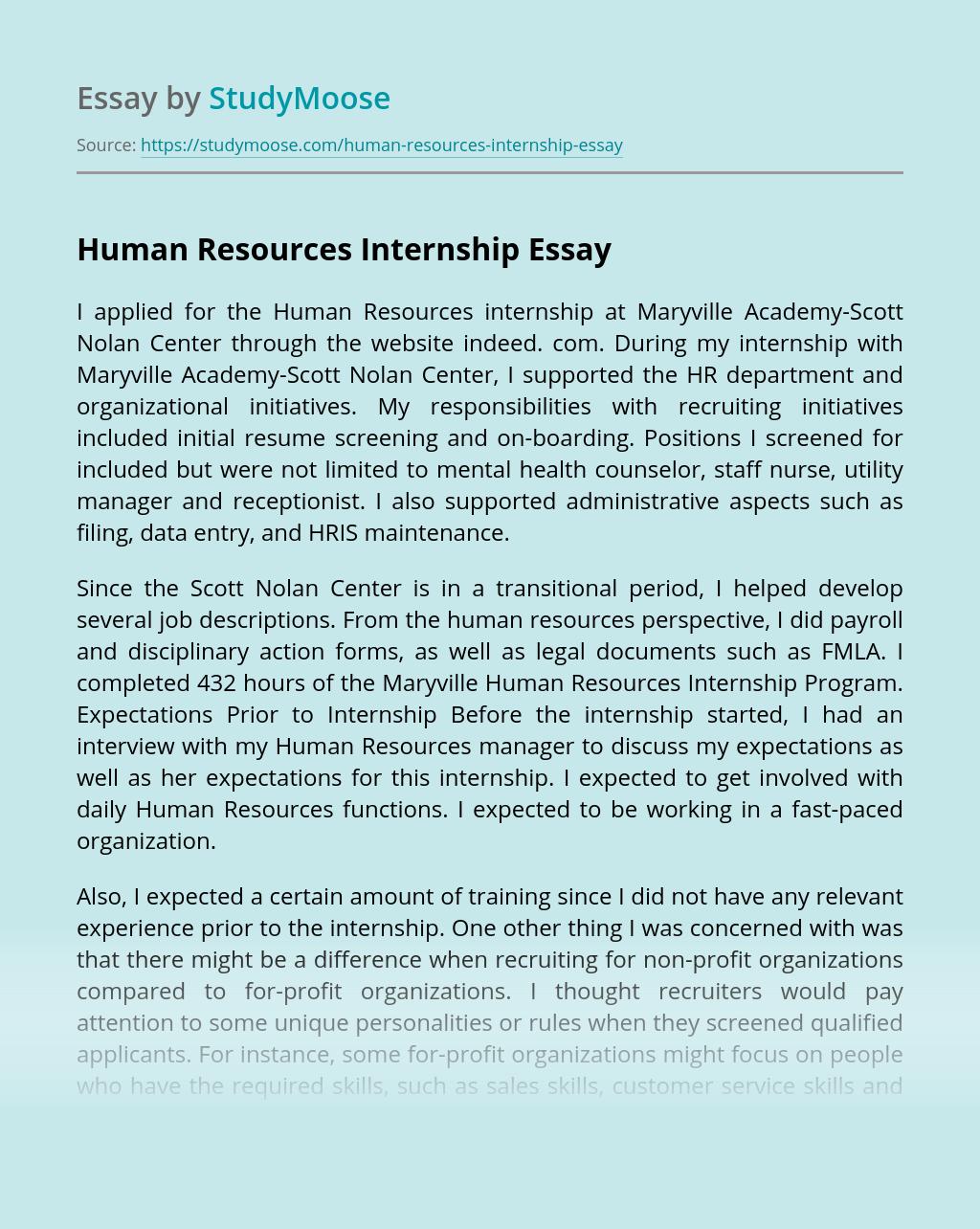 Human Resources Internship