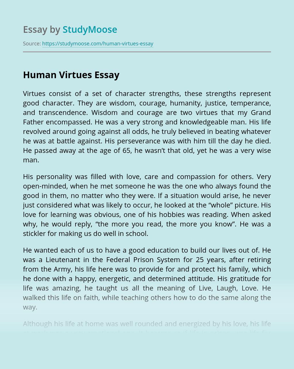 Human Virtues