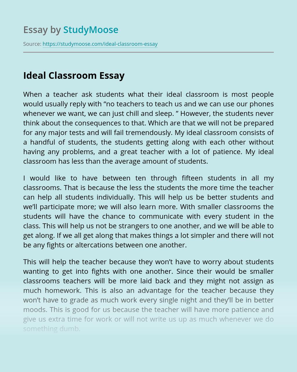 Ideal Classroom