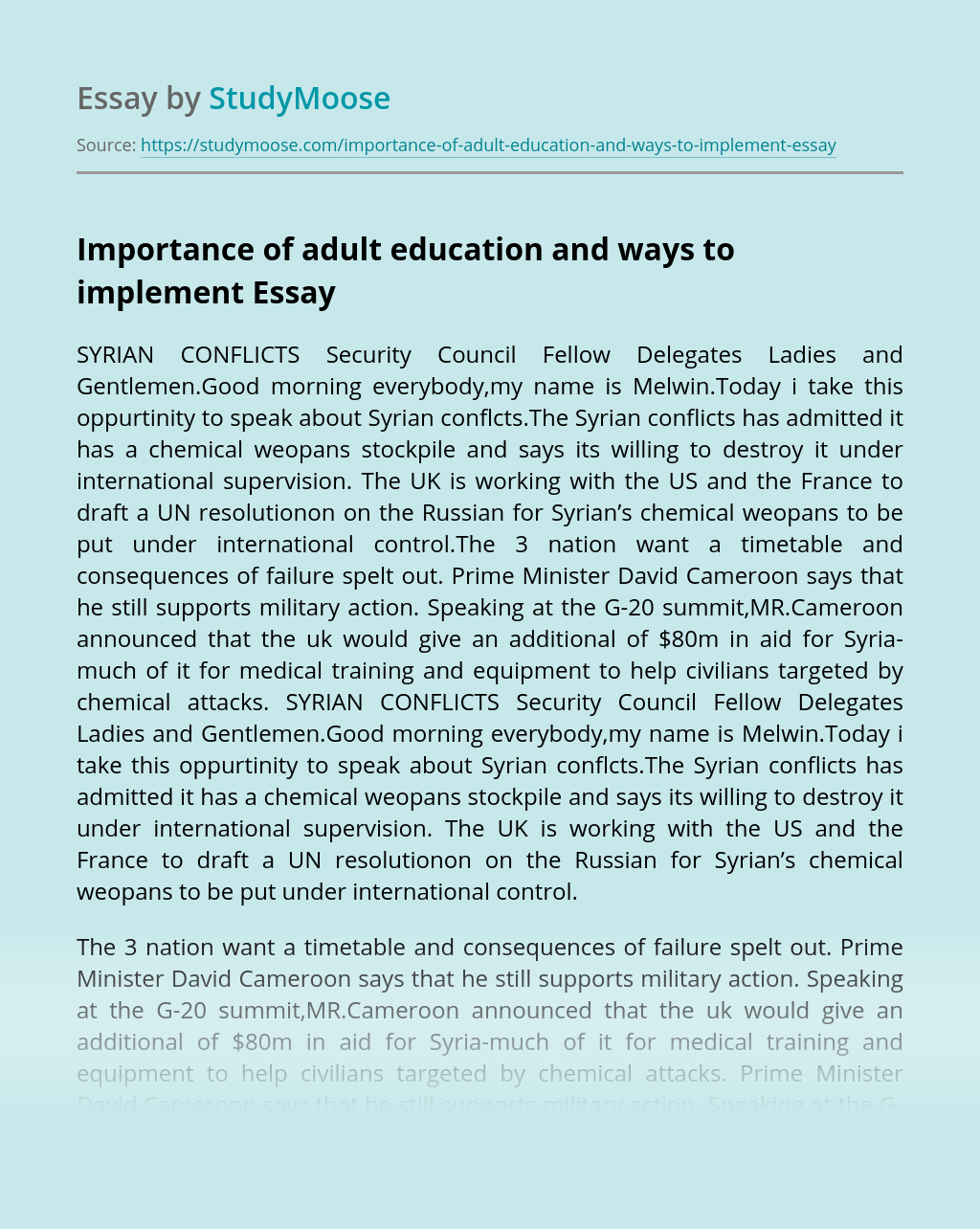 Importance of adult education and ways to implement