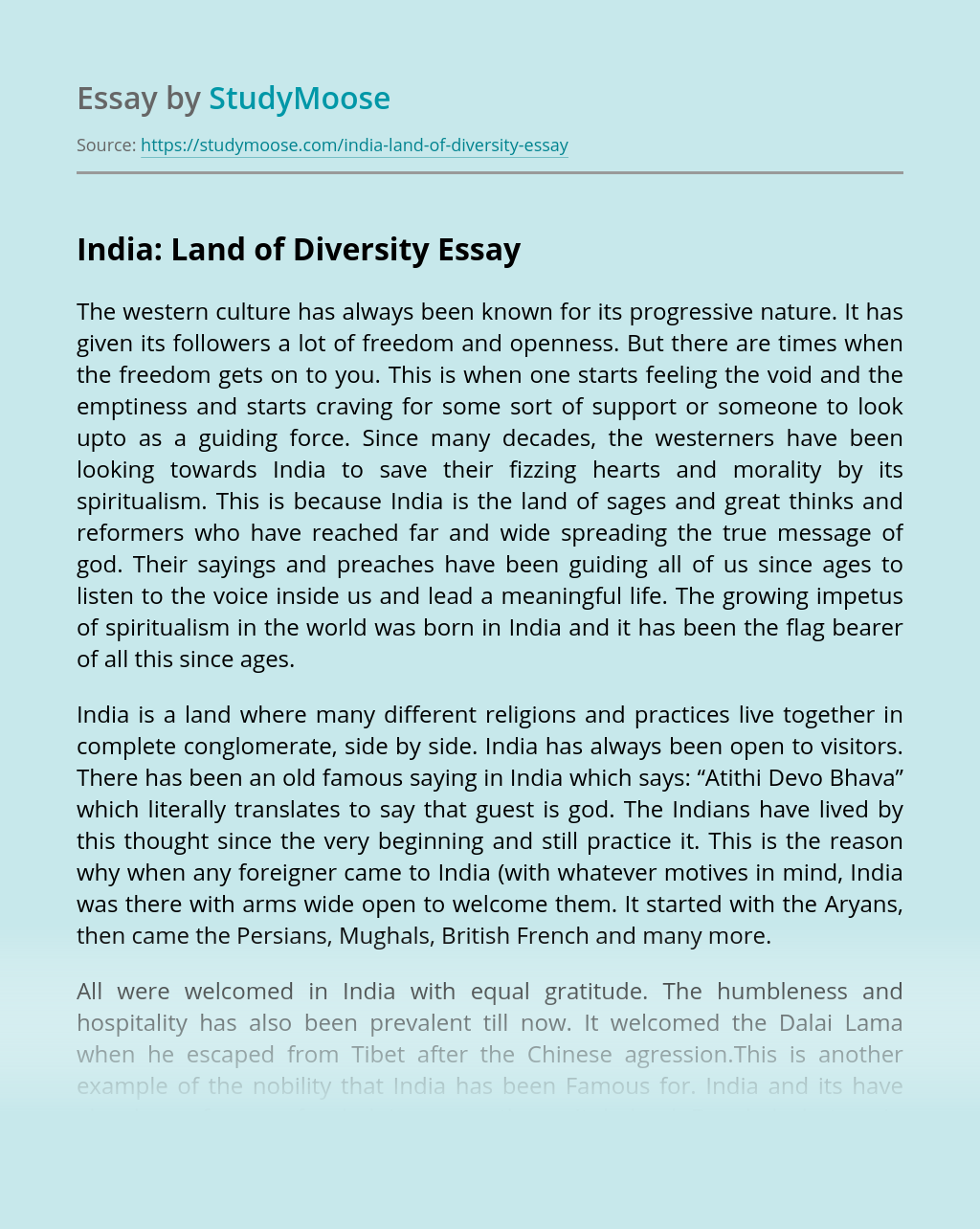 India: Land of Diversity