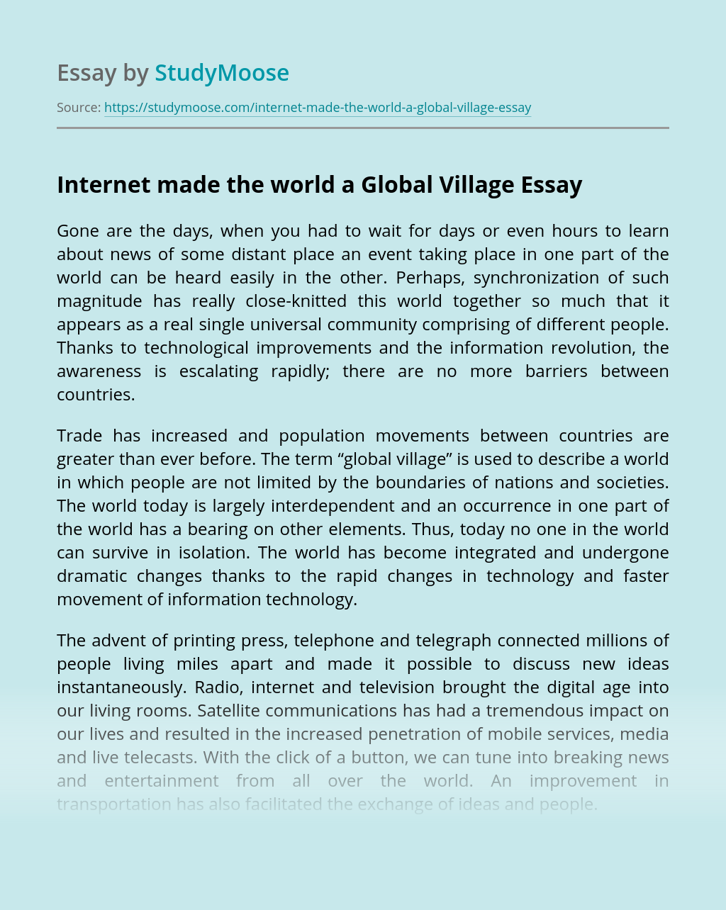 The rights and duties of citizen of global village essay write a sentence using auspicious