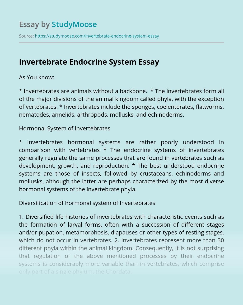 Invertebrate Endocrine System