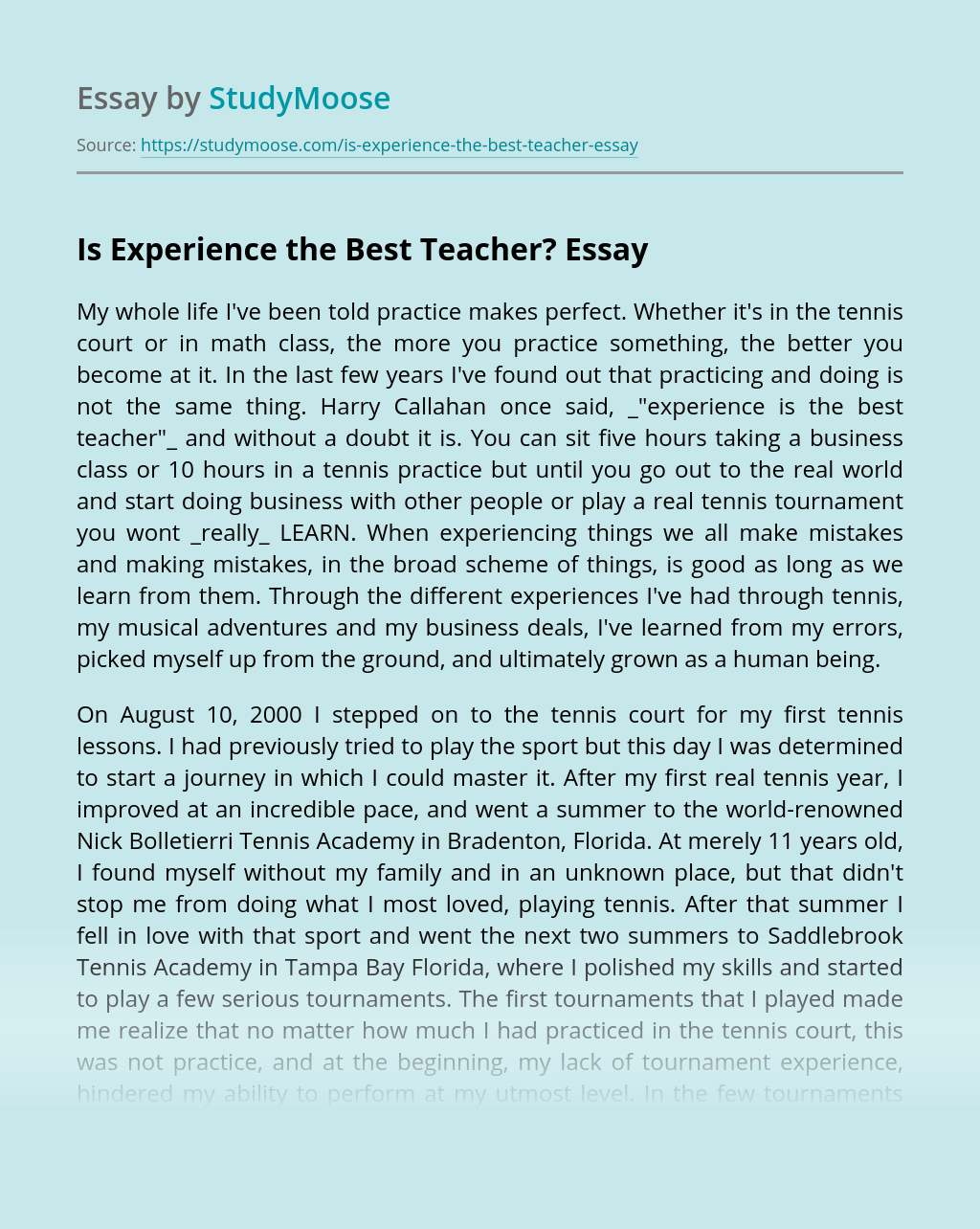 Describe the best teacher you ever had essay organizational theory article review