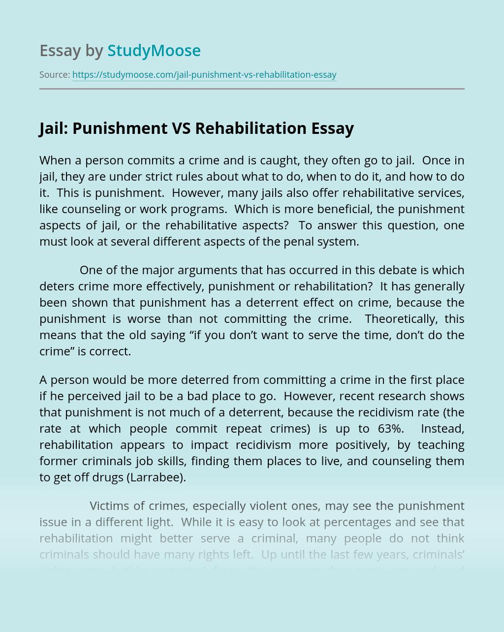 Jail: Punishment VS Rehabilitation