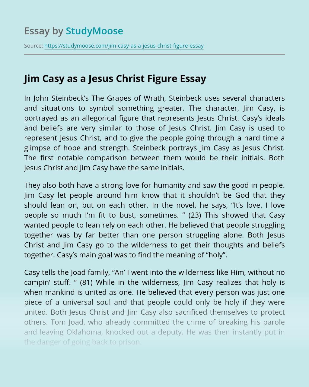 Jim Casy as a Jesus Christ Figure