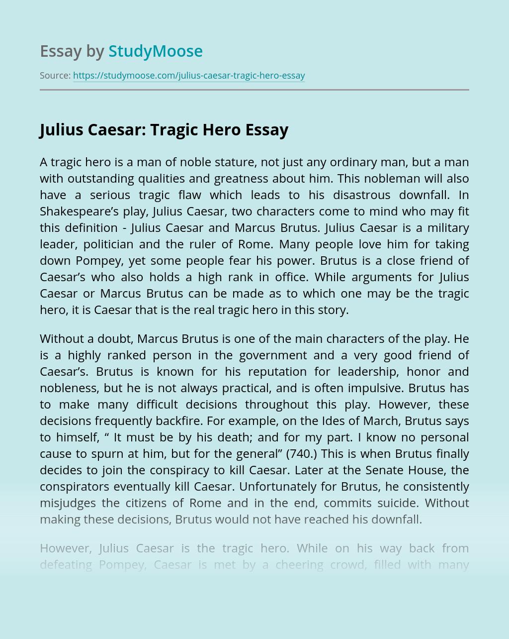 Julius Caesar: Tragic Hero