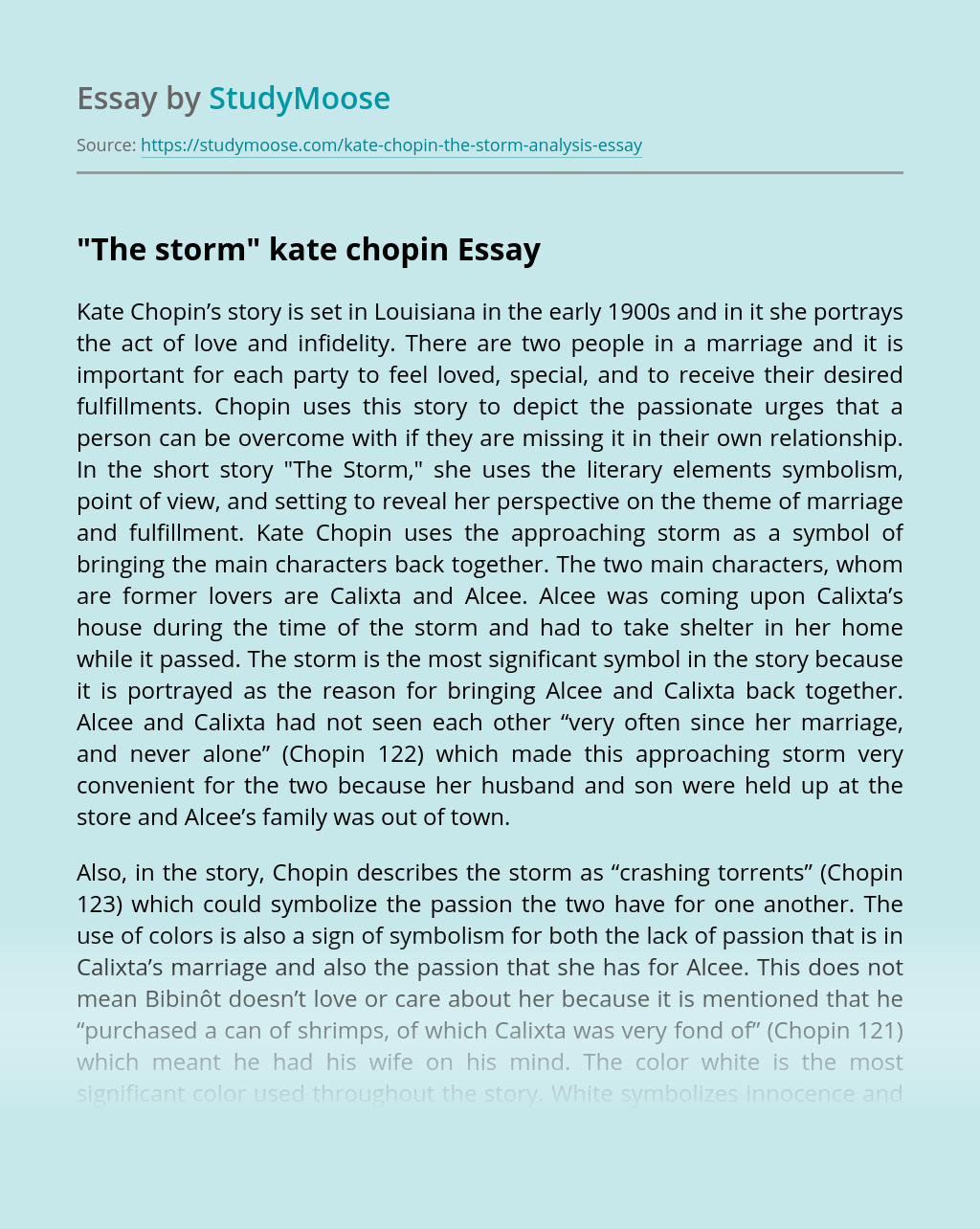 """""""The storm"""" kate chopin"""