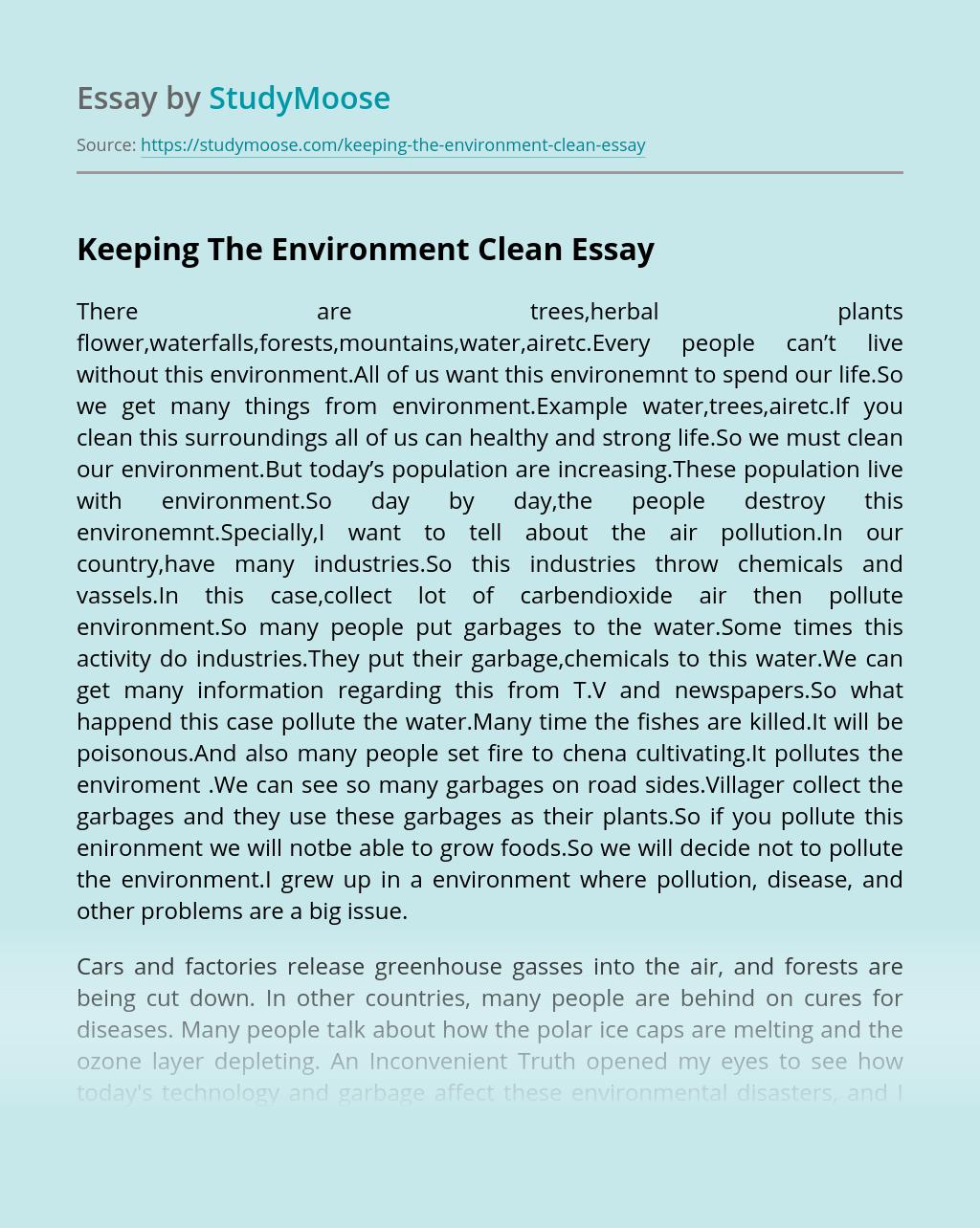 Essay on ecosystem