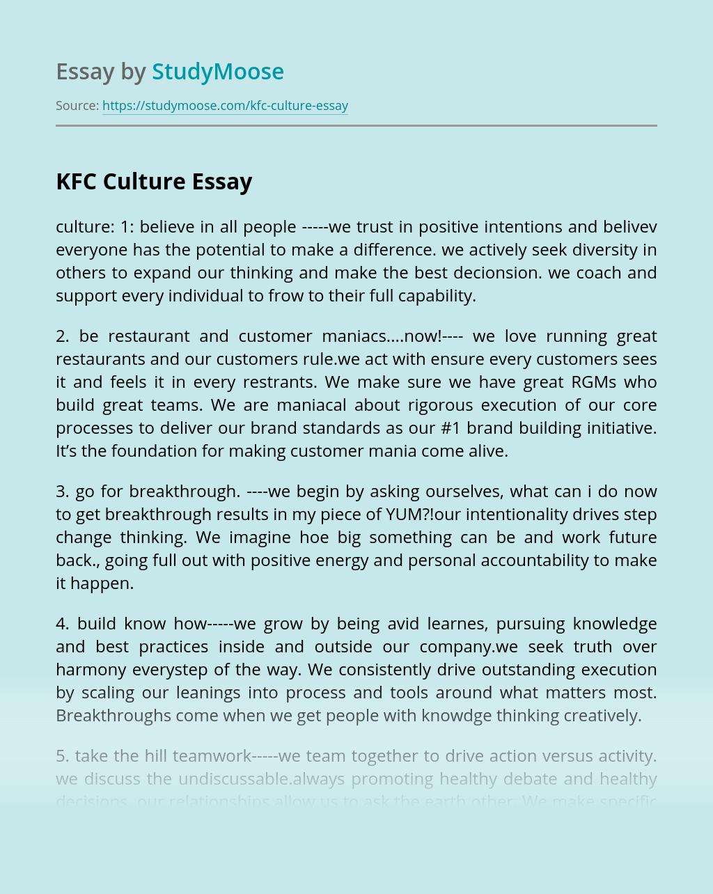 KFC Culture
