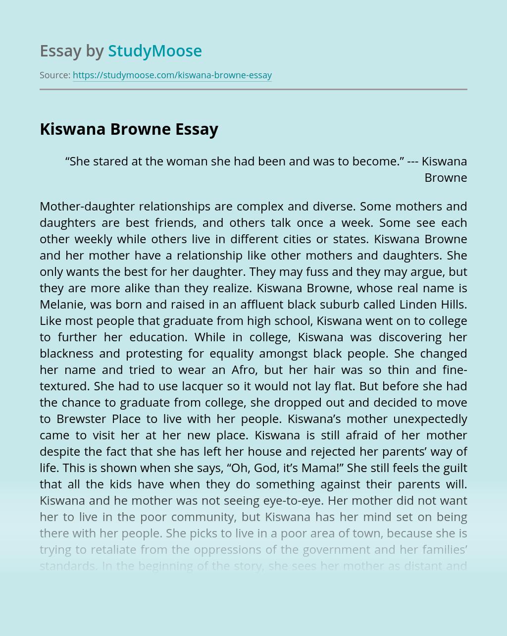 Kiswana Browne