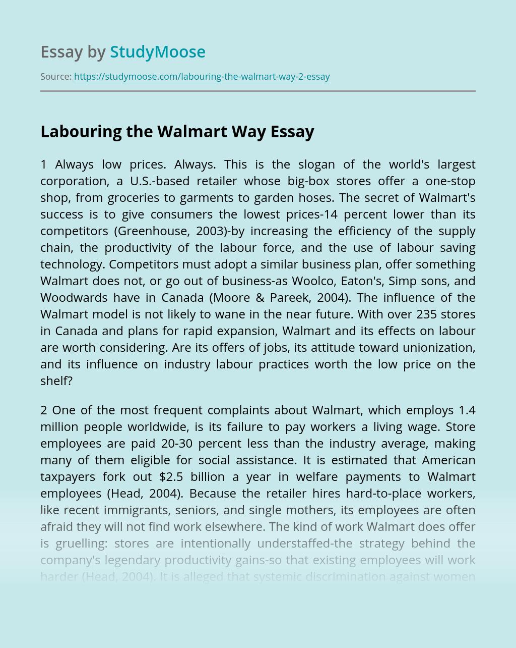 Labouring the Walmart Way