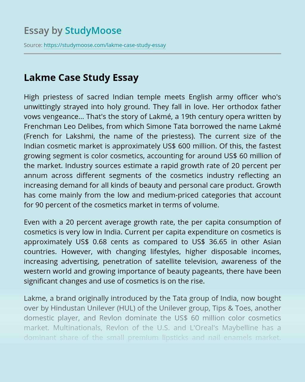 Lakme Case Study