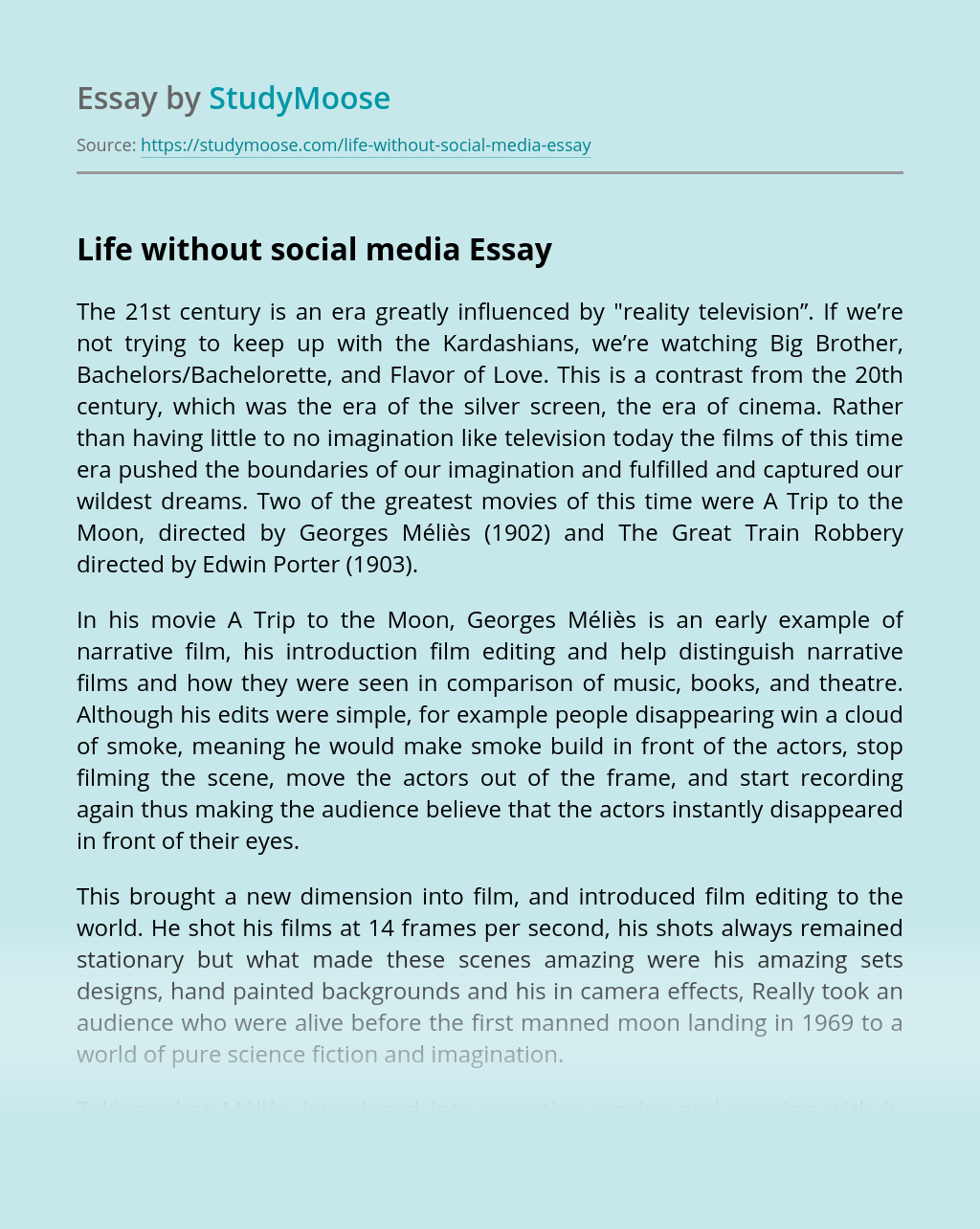 Life without social media
