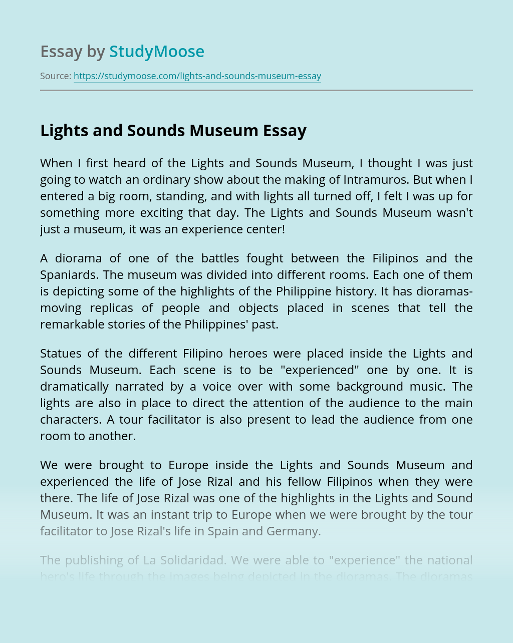 Lights and Sounds Museum