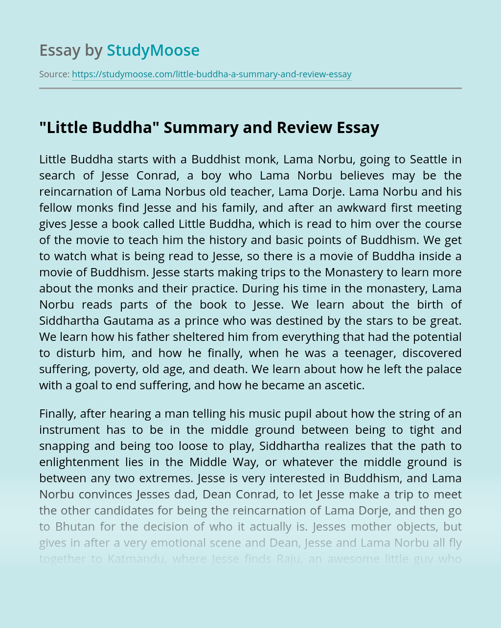 """Little Buddha"" Summary and Review"