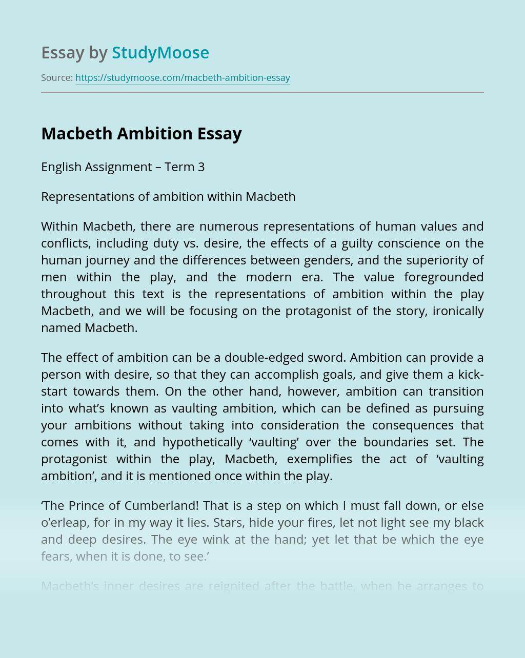 Macbeth Ambition