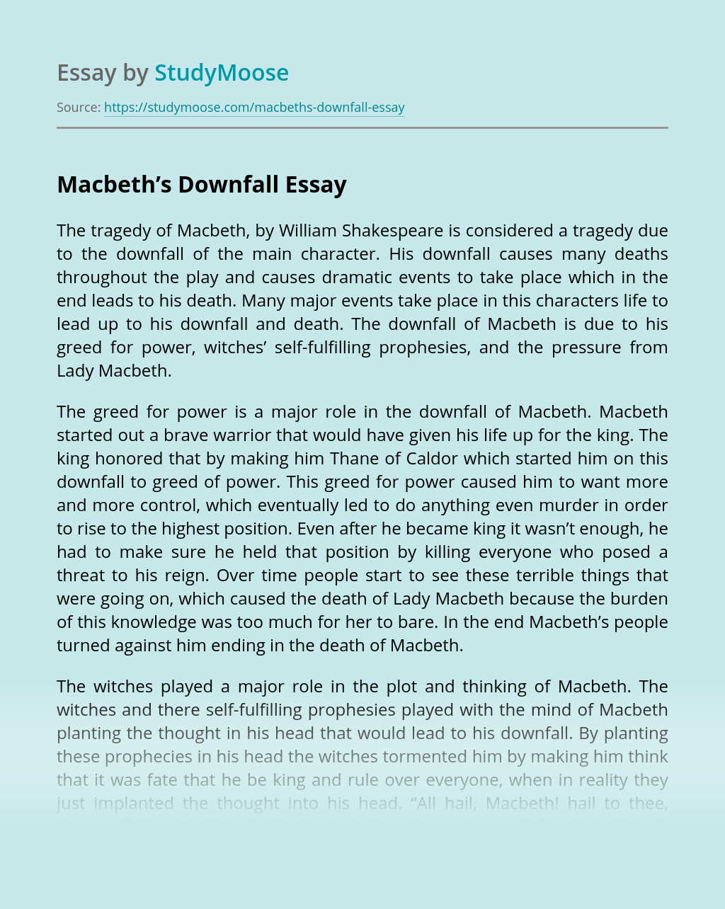 Macbeth's Downfall