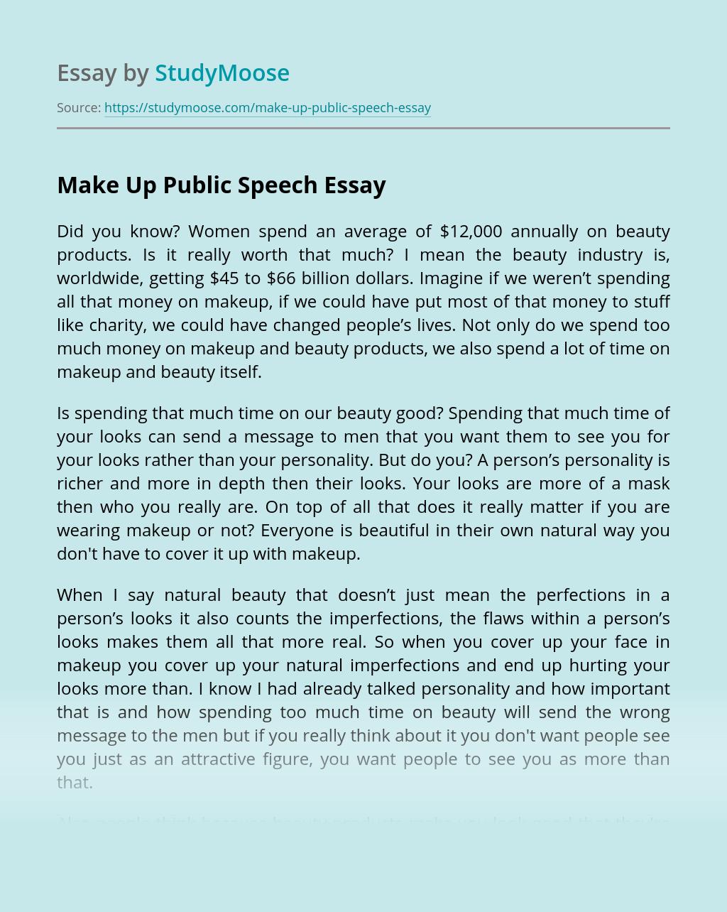Make Up Public Speech