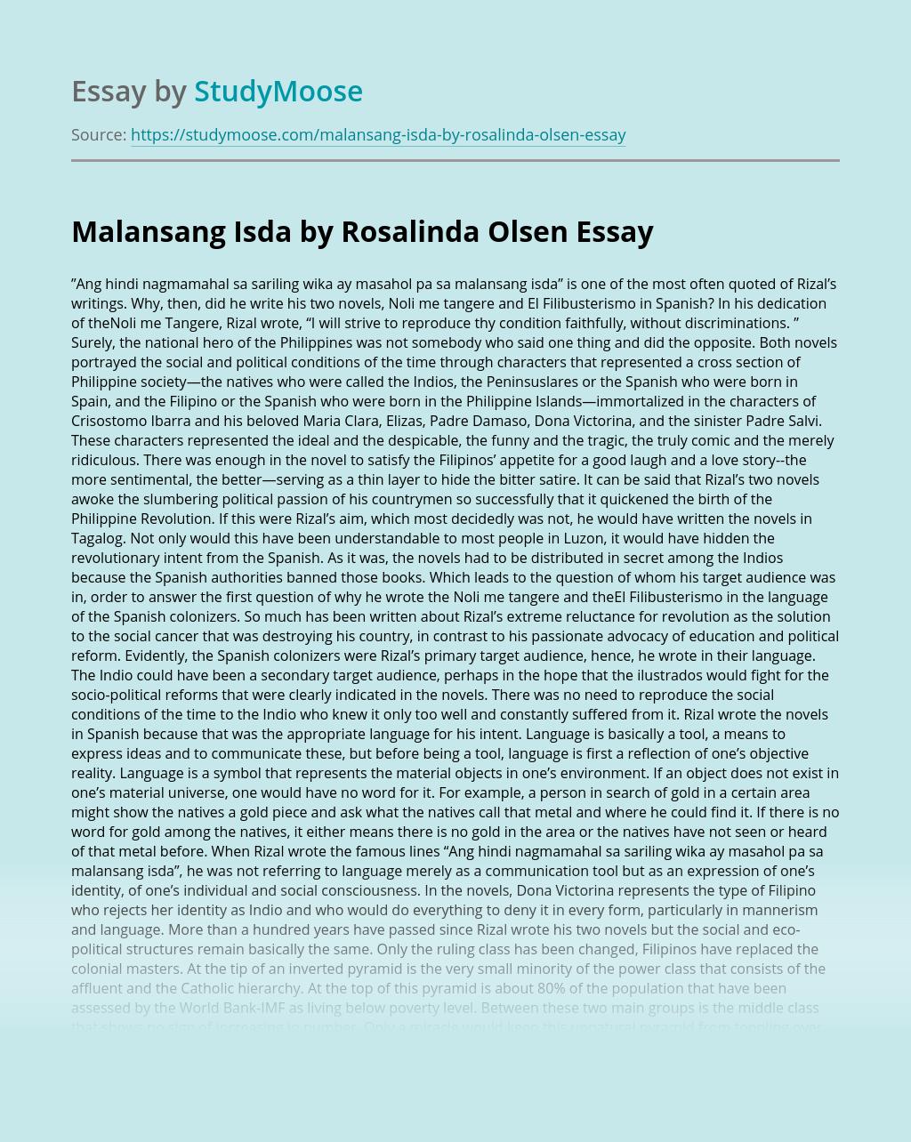 Malansang Isda by Rosalinda Olsen