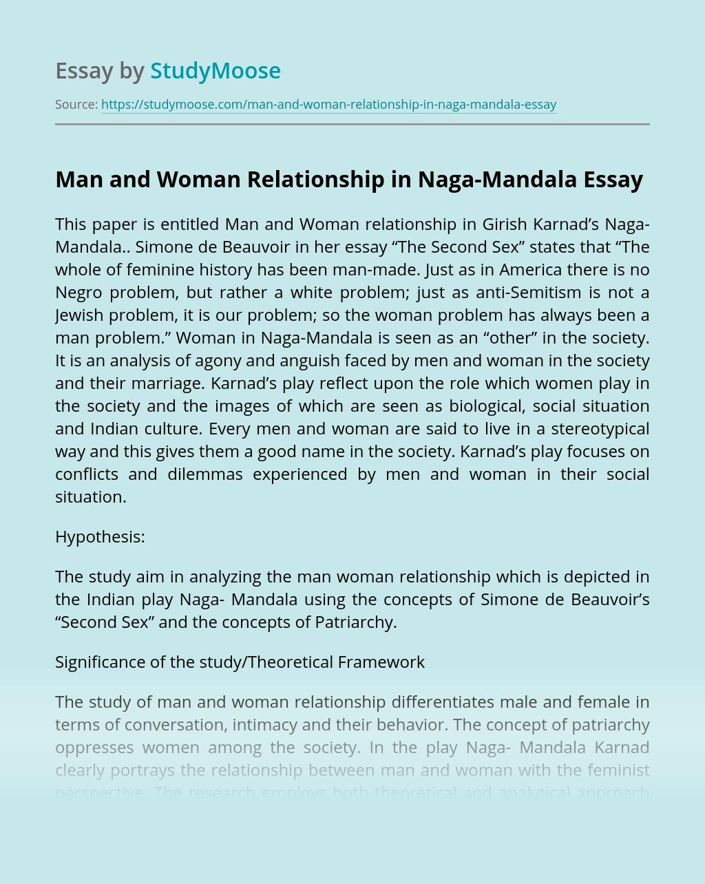 Man and Woman Relationship in Naga-Mandala