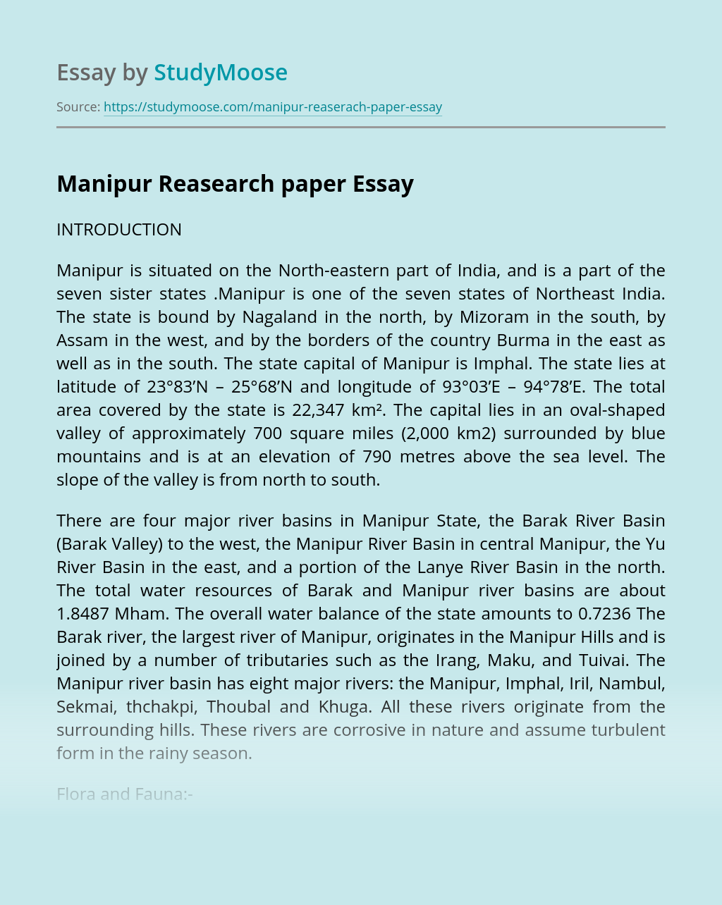 Manipur Reasearch paper