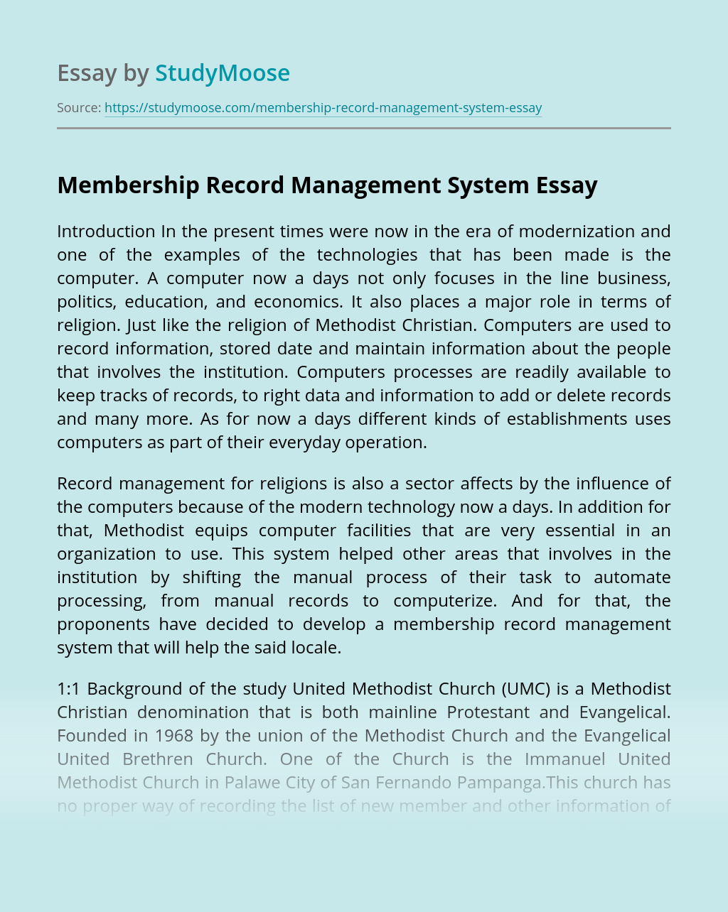 Membership Record Management System