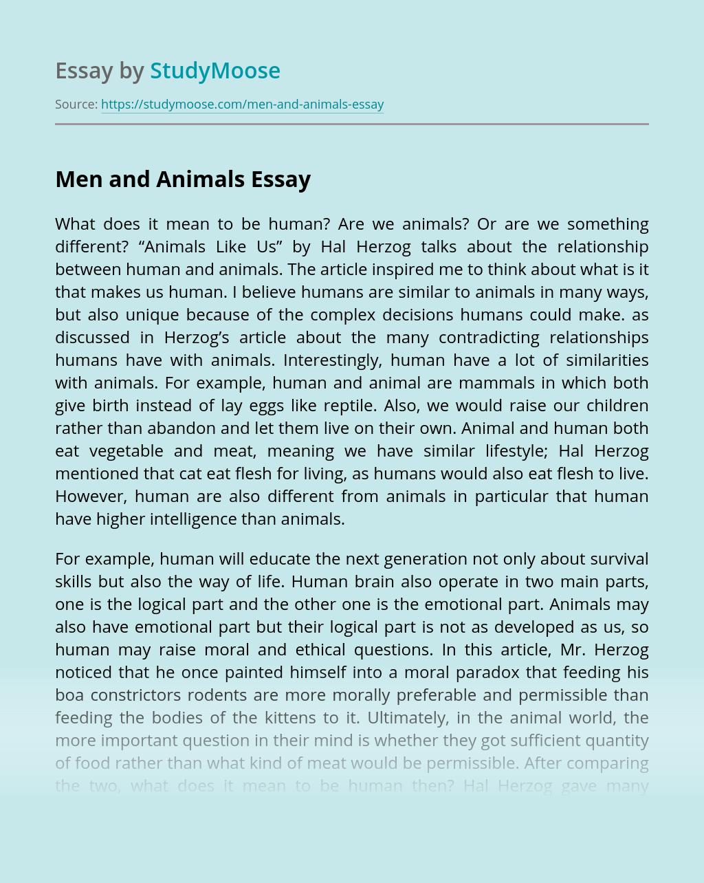 Men and Animals