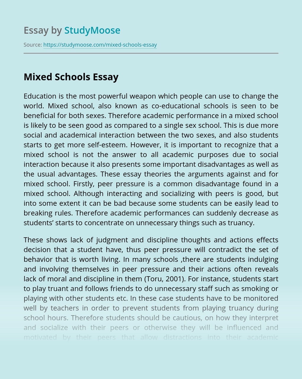 Mixed Schools