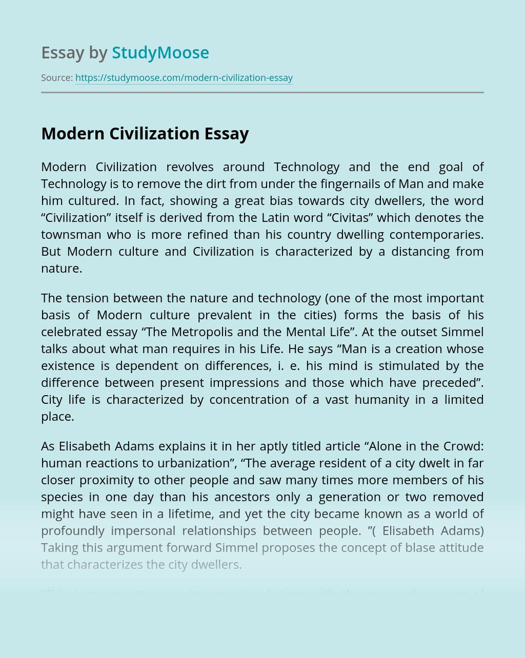 Modern Civilization