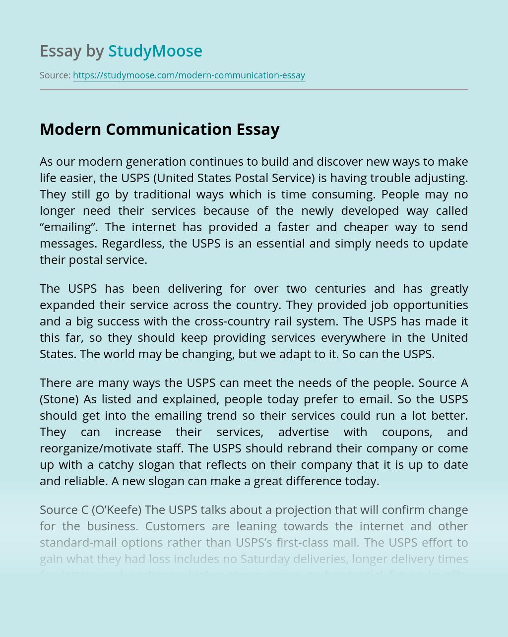 Modern Communication
