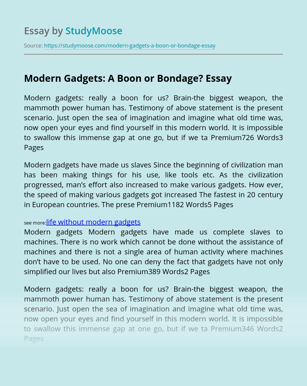 Modern Gadgets: A Boon or Bondage?