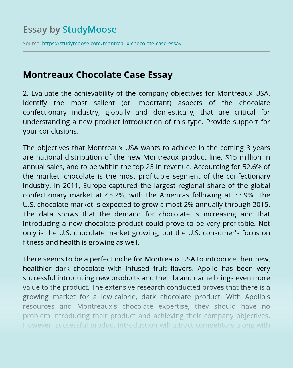Montreaux Chocolate Case