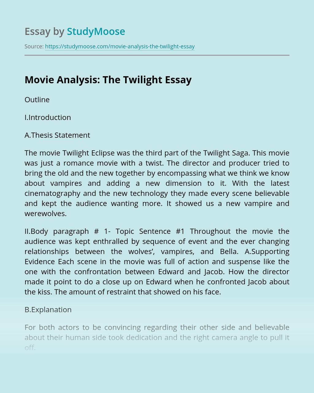 Movie Analysis: The Twilight