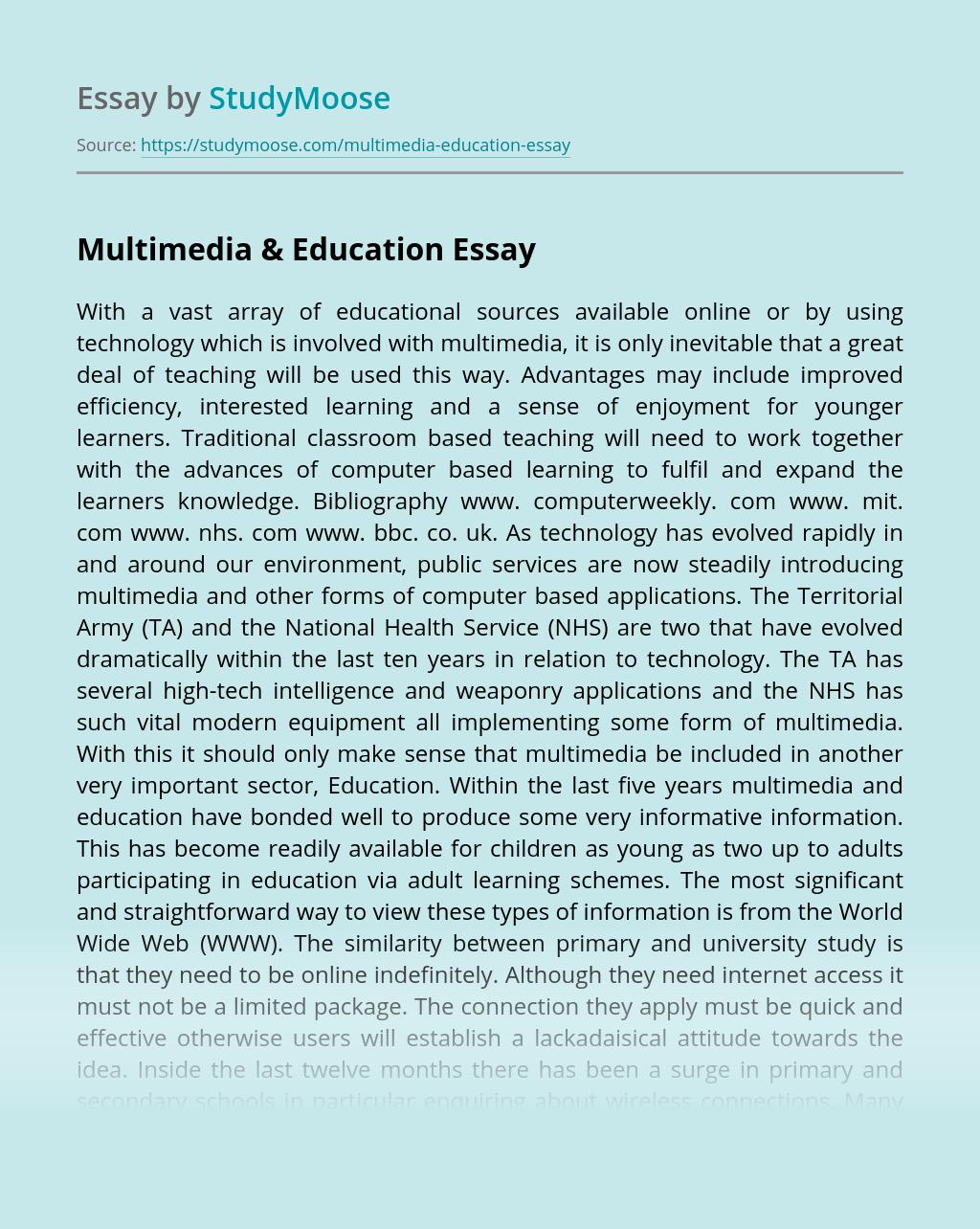 Multimedia & Education