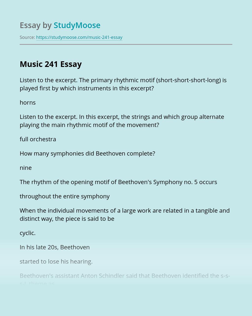 Music 241