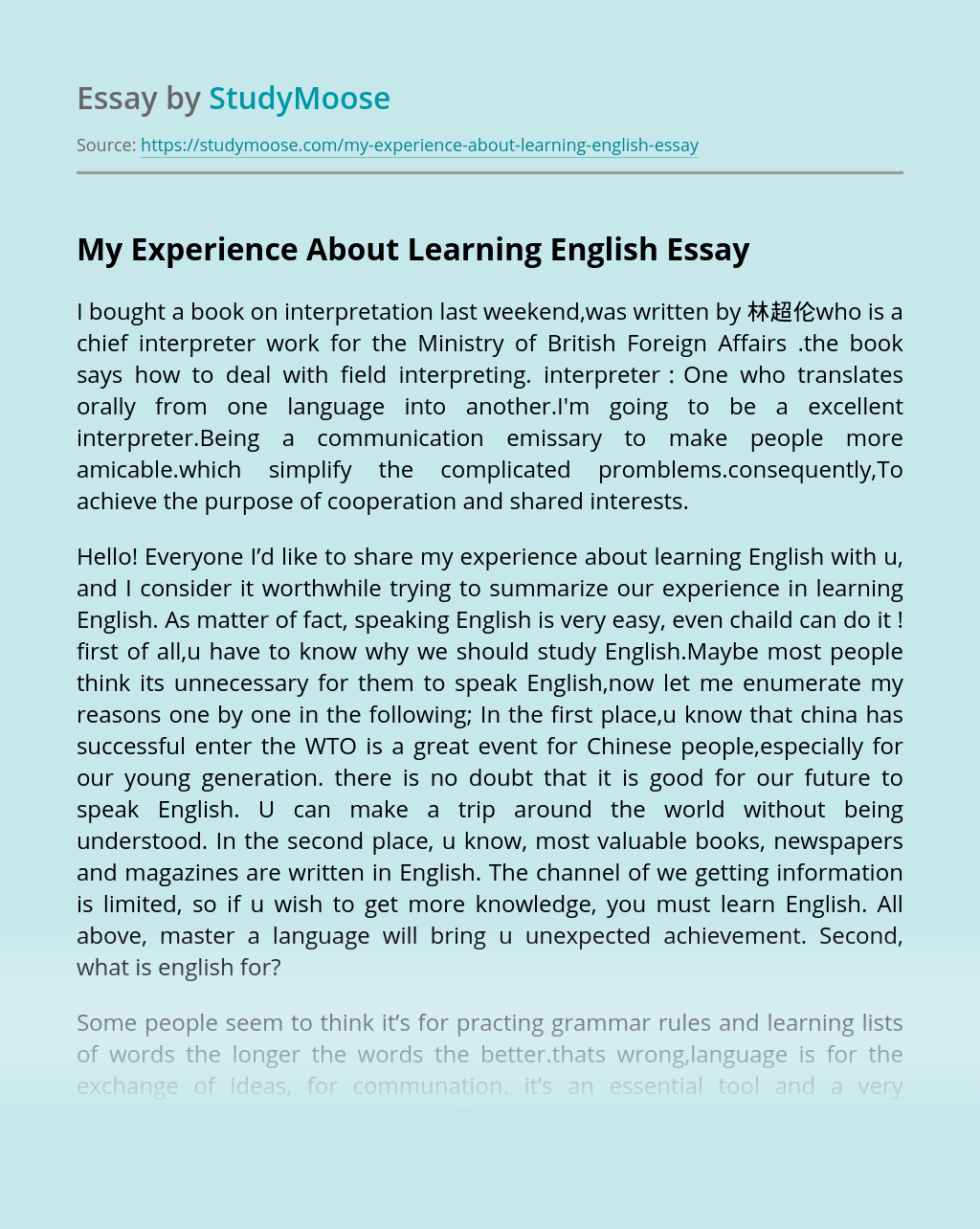 Essay english speaking course is this a good cover letter