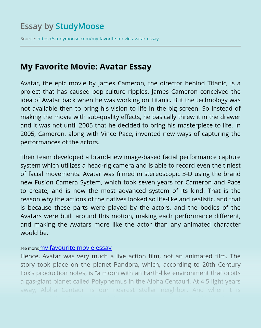 My Favorite Movie: Avatar