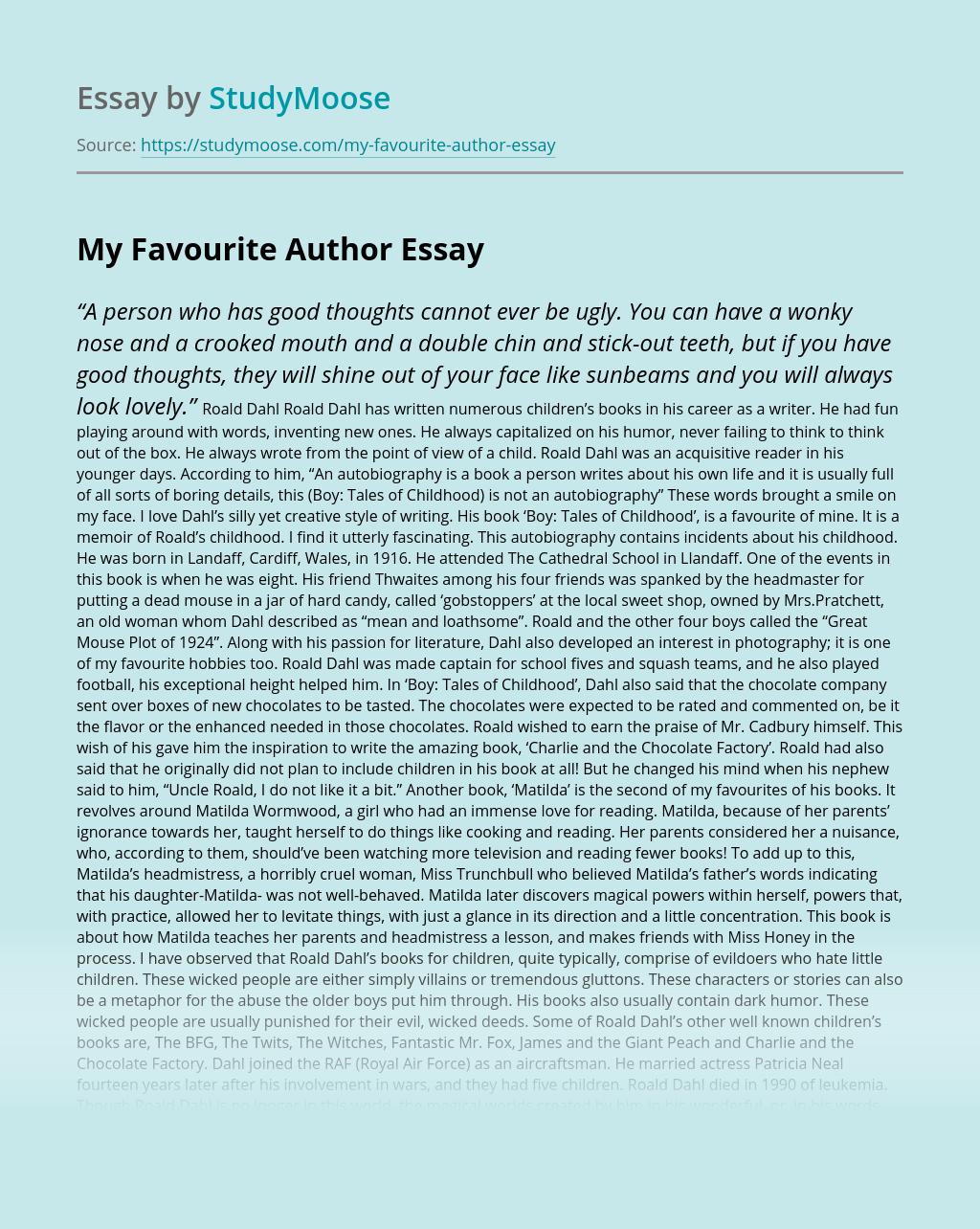 My Favourite Author