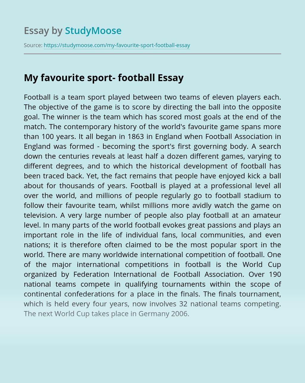 My favourite sport- football