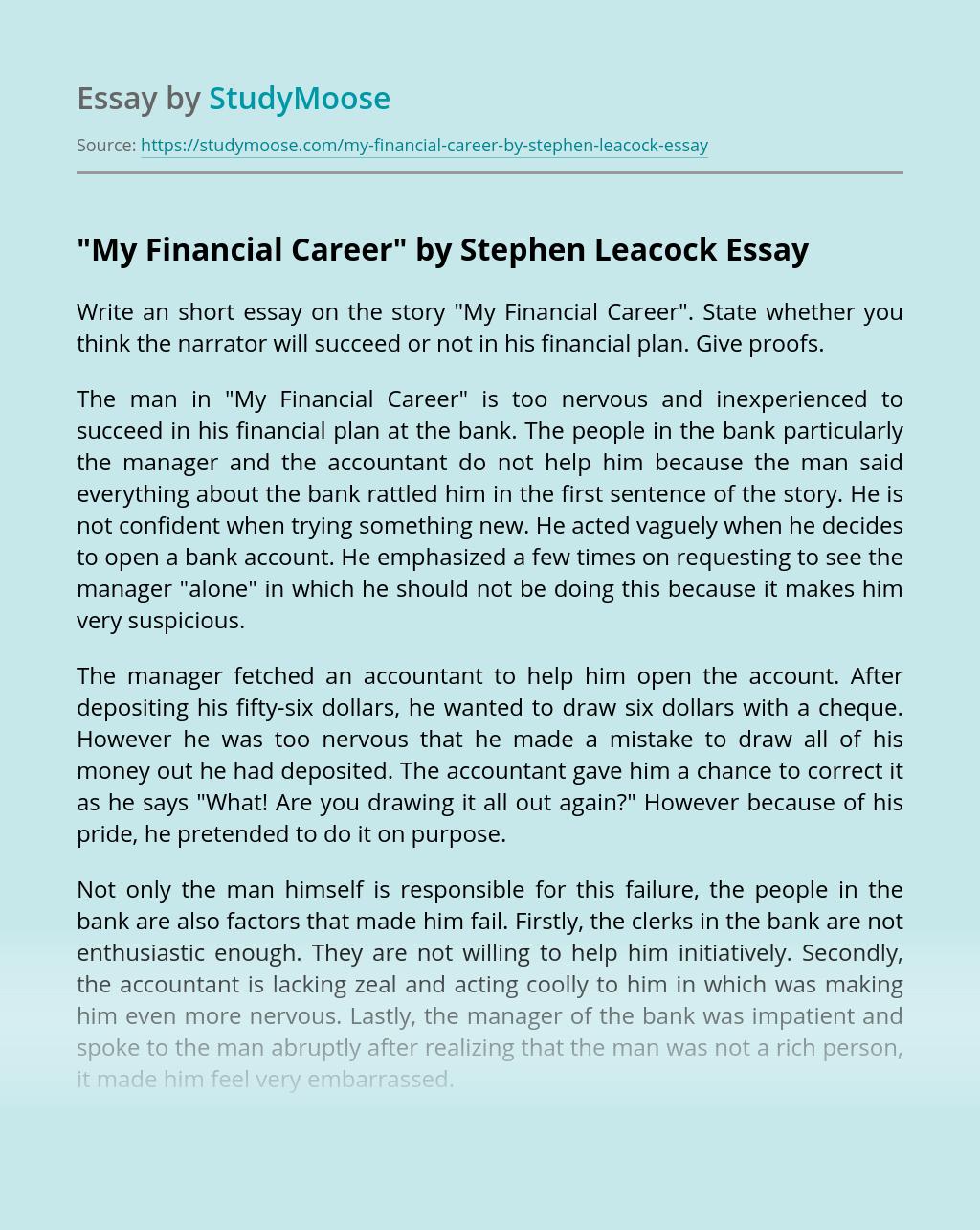 """My Financial Career"" by Stephen Leacock"