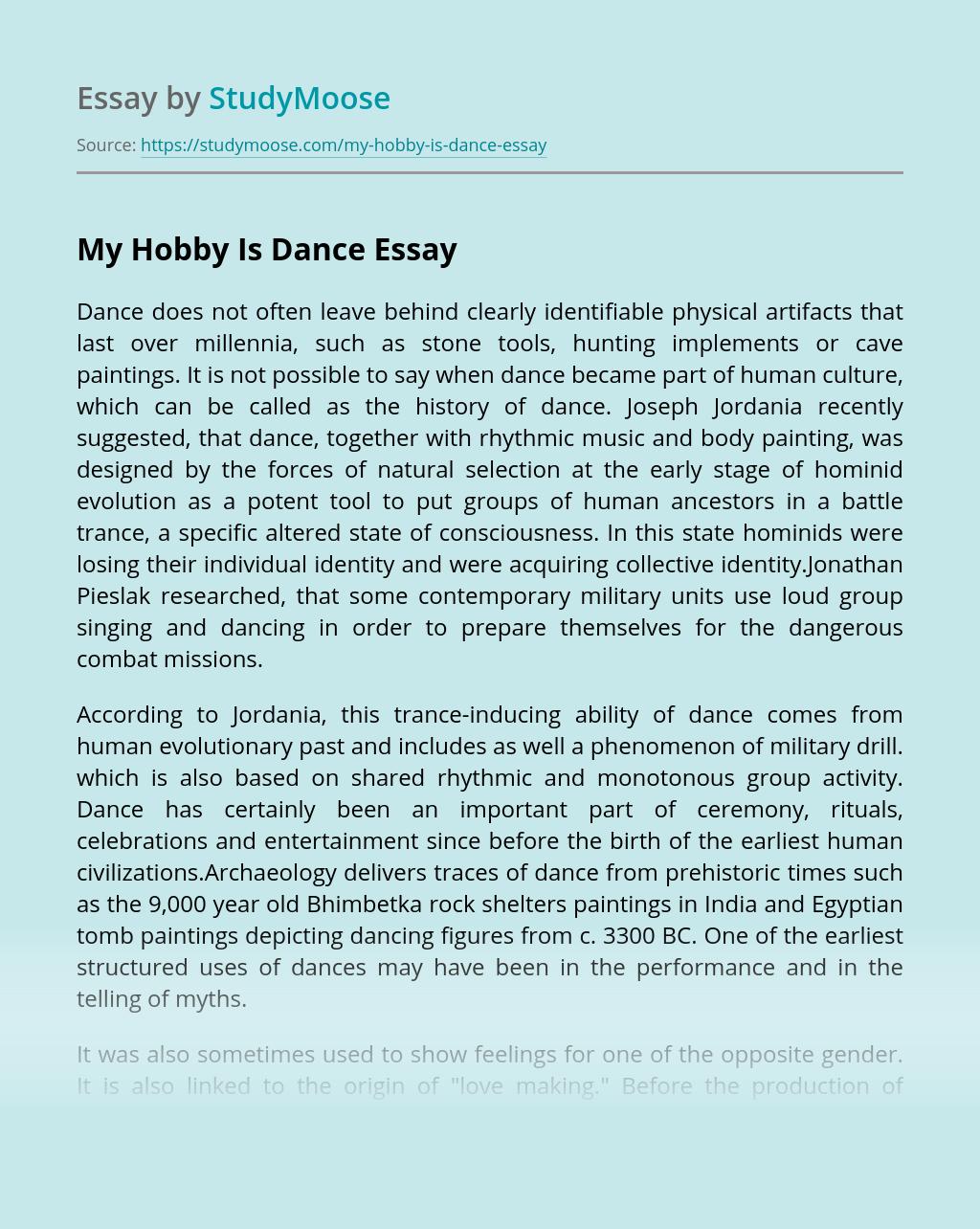 My Hobby Is Dance