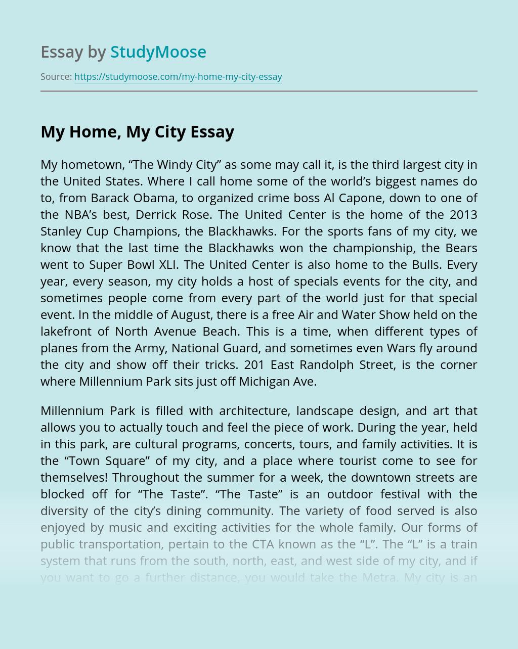 ?My Home, My City