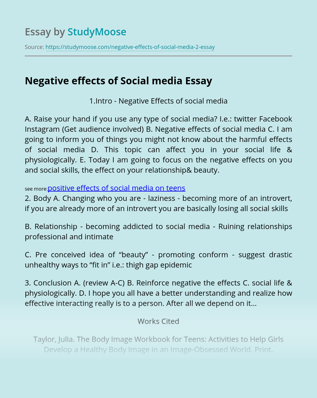 Negative effects of Social media