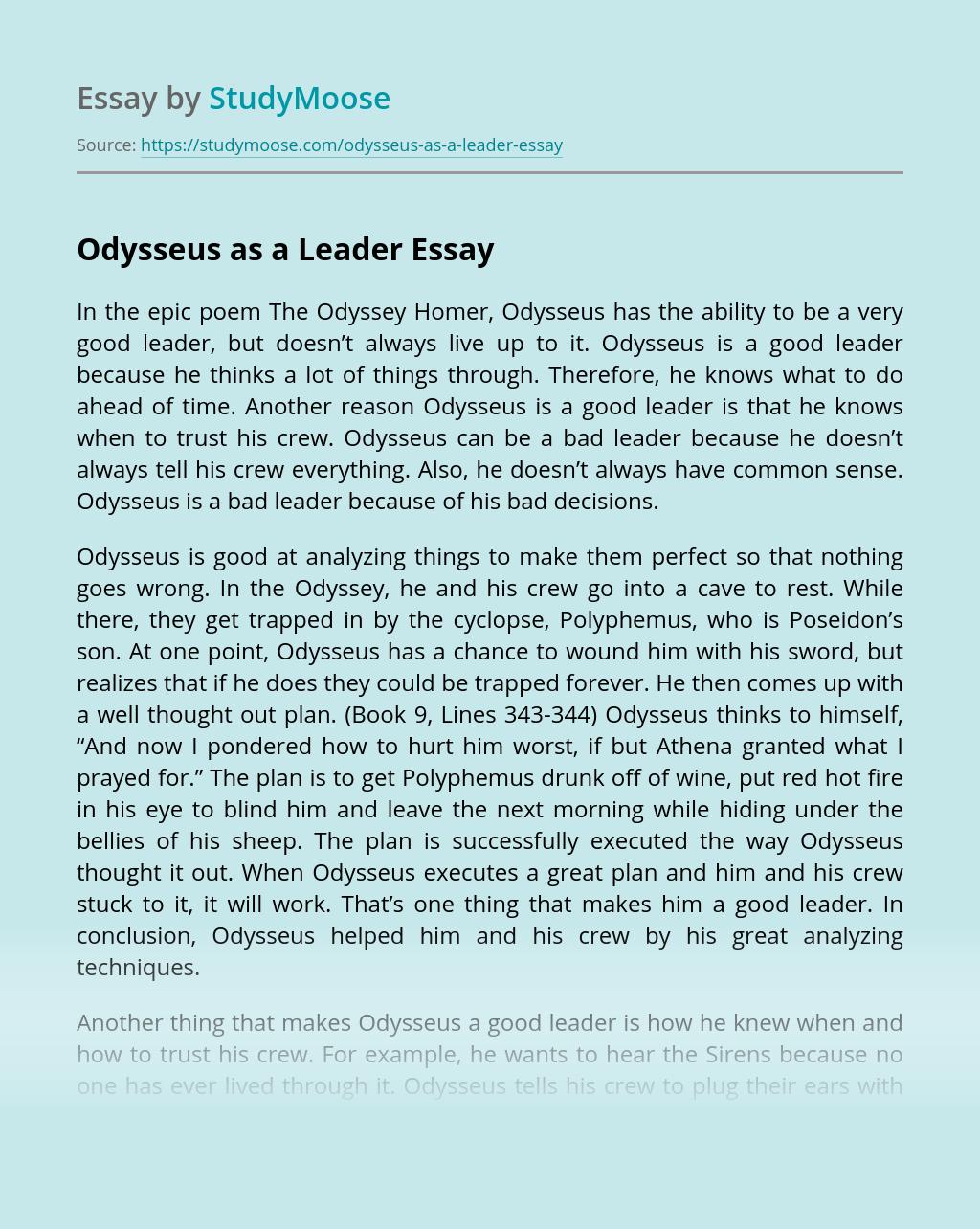 Odysseus as a Leader