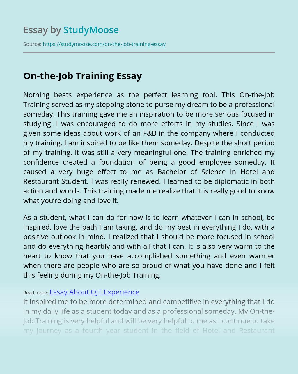 On-the-Job Training