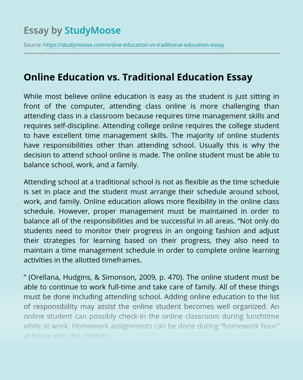 Online Education vs. Traditional Education