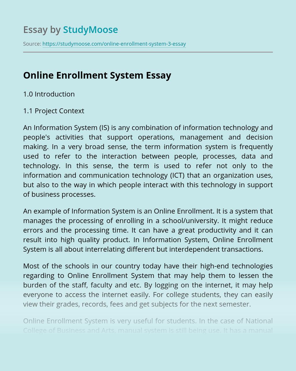 Online Enrollment System